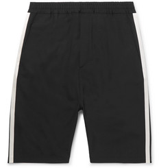 Neil Barrett Satin-Trimmed Stretch-Crepe Shorts