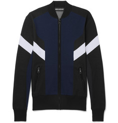Neil Barrett Slim-Fit Colour-Block Tech-Jersey Track Jacket