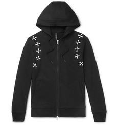 Neil Barrett Printed Cotton-Jersey Zip-Up Hoodie