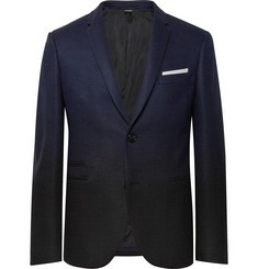 Neil Barrett - Storm-Blue Slim-Fit Dégradé Virgin Wool-Blend Suit Jacket