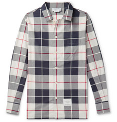 Thom Browne Checked Cotton-Poplin Shirt