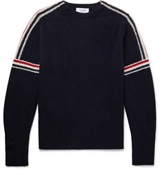 Thom Browne - Striped-Intarsia Wool and Mohair-Blend Sweater
