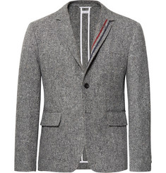 Thom Browne Grey Unstructured Wool and Mohair-Blend Blazer