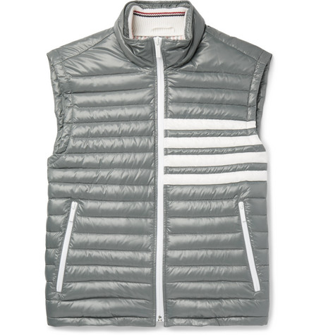 faeb9171ec Thom Browne - Striped Quilted Shell Down Gilet