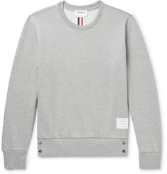 Thom Browne - Stripe-Trimmed Loopback Cotton-Jersey Sweatshirt