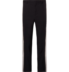 Lanvin Slim-Fit Stripe-Trimmed Cotton-Twill Trousers