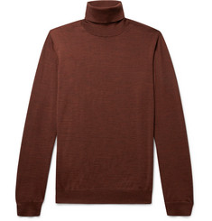 Lanvin Slim-Fit Mélange Wool Rollneck Sweater