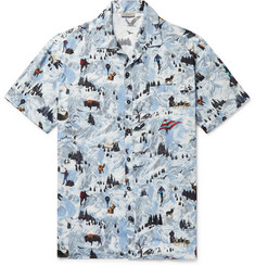 Lanvin - Camp-Collar Printed Matte-Satin Shirt