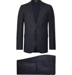 Lanvin Navy Attitude Slim-Fit Wool and Cashmere-Blend Suit