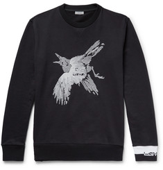 Lanvin Embroiderd Loopback Cotton-Jersey Sweatshirt