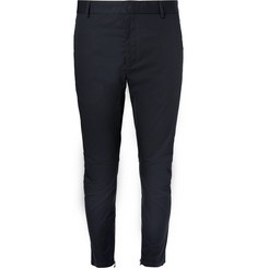 Lanvin Slim-Fit Cotton-Canvas Biker Trousers