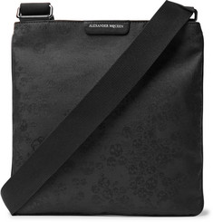 Alexander McQueen - Leather-Trimmed Jacquard Messenger Bag