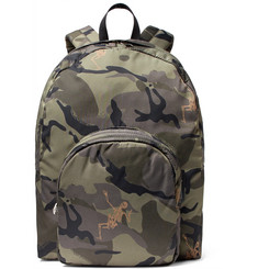 Alexander McQueen Camouflage-Print Shell Backpack