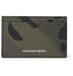 Alexander McQueen Camouflage-Print Full-Grain Leather Cardholder