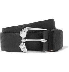 Alexander McQueen 3.5cm Full-Grain Leather Belt