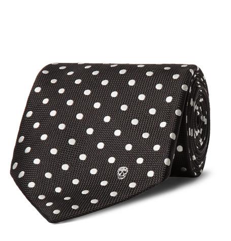 8cm Polka-dot Silk Tie