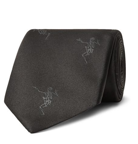 7cm Embroidered Silk-faille Tie