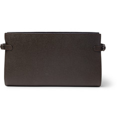 Valextra - Porta Pebble-Grain Leather Travel Wallet