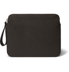 Valextra Pebble-Grain Leather iPad Case