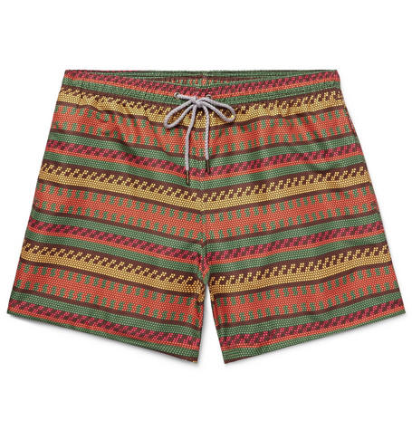 OKUN Ali Mid-Length Printed Swim Shorts - Green
