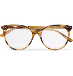 Bottega Veneta Round-Frame Tortoiseshell Acetate Optical Glasses