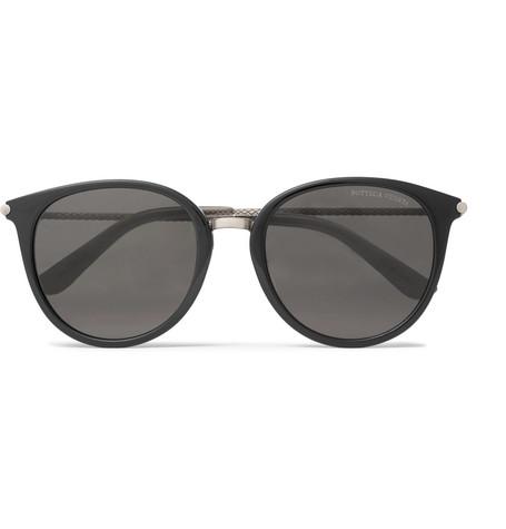 94b7ff4a5f81 Bottega Veneta Round-Frame Acetate And Gunmetal-Tone Sunglasses In Black
