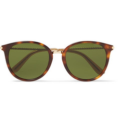 Bottega Veneta - Round-Frame Tortoiseshell Acetate and Gold-Tone Sunglasses