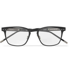 Bottega Veneta Square-Frame Acetate and Gunmetal-Tone Optical Glasses