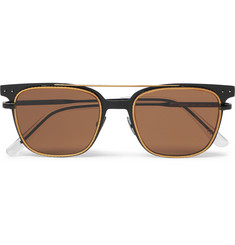 Bottega Veneta Square-Frame Metal Sunglasses