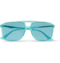 Gucci Aviator-Style Acetate Sunglasses