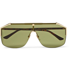 Gucci Endura Oversized Aviator-Style Gold-Tone and Tortoiseshell Acetate Sunglasses