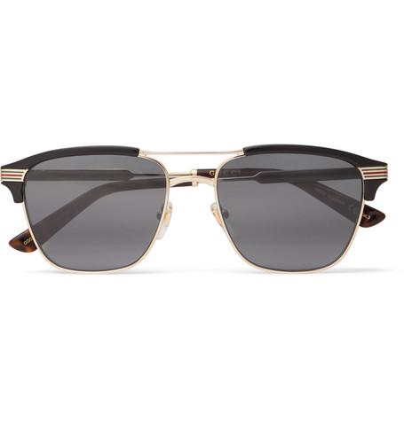 394d2dfed9dd0 Gucci Endura Square-Frame Acetate And Gold-Tone Sunglasses ...