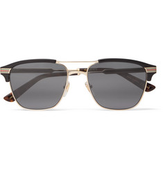 Gucci Endura Square-Frame Acetate and Gold-Tone Sunglasses