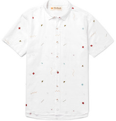 Mollusk Slim-Fit Printed Linen and Cotton-Blend Shirt