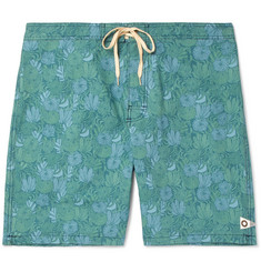 Mollusk - Long-Length Printed Cotton-Blend Swim Shorts