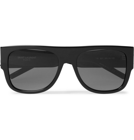 f604fa4e1d Saint Laurent D-Frame Acetate Sunglasses In Black