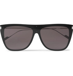 Saint Laurent - D-Frame Acetate and Silver-Tone Sunglasses