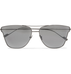 Saint Laurent - Aviator-Style Gunmetal-Tone Sunglasses