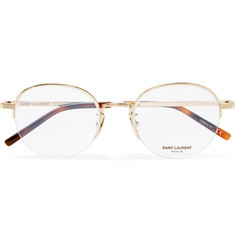 Saint Laurent - Round-Frame Gold-Tone Optical Glasses
