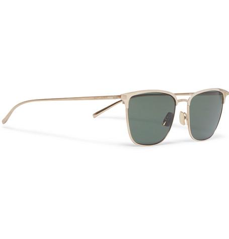 5ac0f1cd83 d-frame-gold-tone-titanium-sunglasses by saint-laurent