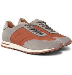 Loro Piana - Weekend Walk Suede and Wind Storm System Shell Sneakers