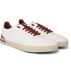 Loro Piana - 70's Walk Full-Grain Leather Sneakers