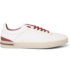 Loro Piana 70's Walk Full-Grain Leather Sneakers
