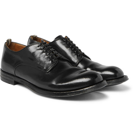 Anatomia Polished Leather Derby Shoes by Officine Creative