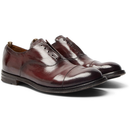 Anatomia Cap-toe Polished-leather Derby Shoes Officine Creative XcCdF8Dx