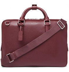 Smythson - Burlington Pebble-Grain Leather Briefcase