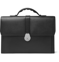 Smythson - Grosvenor Full-Grain Leather Briefcase