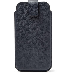 Smythson - Panama Cross-Grain Leather iPhone 8 Case
