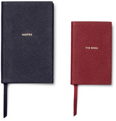 Smythson Panama The Boss Cross-Grain Leather Notebook Set