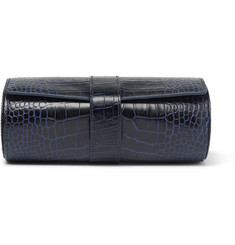 Smythson - Mara Croc-Effect Leather Watch Roll